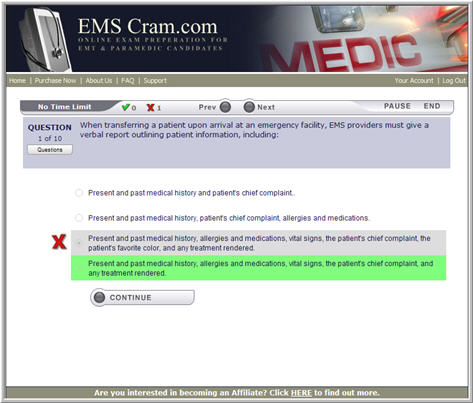 FULL Online Practice Exams for the Advanced Life Support ...
